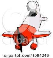 White Clergy Man In Geebee Stunt Plane Descending Front Angle View