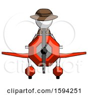 White Detective Man In Geebee Stunt Plane Front View