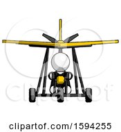 White Clergy Man In Ultralight Aircraft Front View