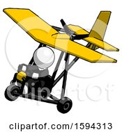 White Clergy Man In Ultralight Aircraft Top Side View