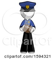 White Police Man Giving Football To You