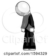 White Clergy Man Depressed With Head Down Turned Left