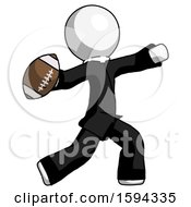White Clergy Man Throwing Football