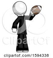 White Clergy Man Holding Football Up