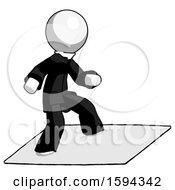 White Clergy Man On Postage Envelope Surfing