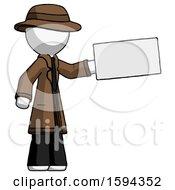 White Detective Man Holding Large Envelope