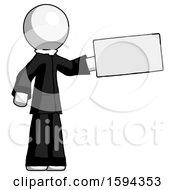 White Clergy Man Holding Large Envelope