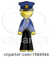 Yellow Police Man Standing Facing Forward