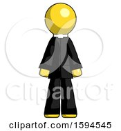 Yellow Clergy Man Standing Facing Forward