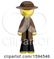 Yellow Detective Man Standing Facing Forward