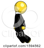 Yellow Clergy Man Floating Through Air Left