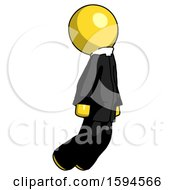 Yellow Clergy Man Floating Through Air Right