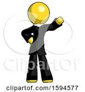 Yellow Clergy Man Waving Left Arm With Hand On Hip