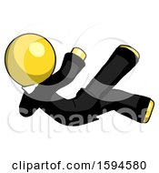 Yellow Clergy Man Falling Backwards