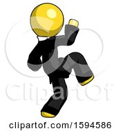 Yellow Clergy Man Kick Pose Start