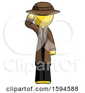 Yellow Detective Man Soldier Salute Pose