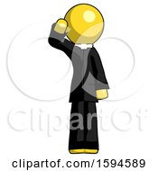 Yellow Clergy Man Soldier Salute Pose