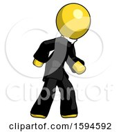 Yellow Clergy Man Suspense Action Pose Facing Right