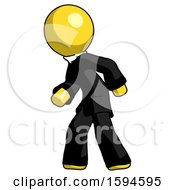 Yellow Clergy Man Suspense Action Pose Facing Left