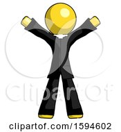 Yellow Clergy Man Surprise Pose Arms And Legs Out