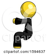 Yellow Clergy Man Sitting Or Driving Position