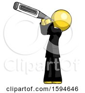 Yellow Clergy Man Thermometer In Mouth