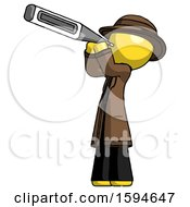Yellow Detective Man Thermometer In Mouth