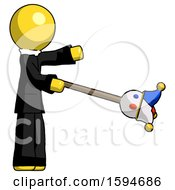 Yellow Clergy Man Holding Jesterstaff I Dub Thee Foolish Concept