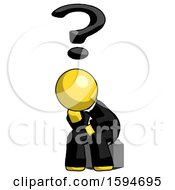 Yellow Clergy Man Thinker Question Mark Concept