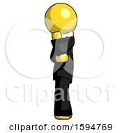 Yellow Clergy Man Thinking Wondering Or Pondering