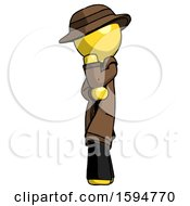 Yellow Detective Man Thinking Wondering Or Pondering