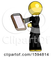 Yellow Clergy Man Reviewing Stuff On Clipboard