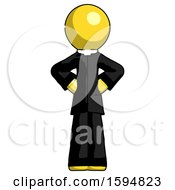 Yellow Clergy Man Hands On Hips