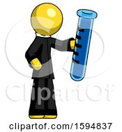 Yellow Clergy Man Holding Large Test Tube