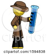 Yellow Detective Man Holding Large Test Tube