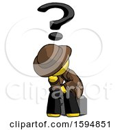 Yellow Detective Man Thinker Question Mark Concept