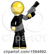 Yellow Clergy Man Holding Handgun