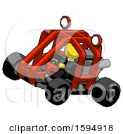 Yellow Clergy Man Riding Sports Buggy Side Top Angle View