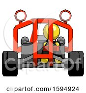Yellow Clergy Man Riding Sports Buggy Front View