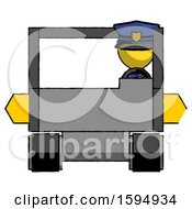 Yellow Police Man Driving Amphibious Tracked Vehicle Front View