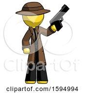 Yellow Detective Man Holding Handgun