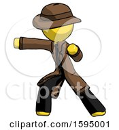 Yellow Detective Man Martial Arts Punch Left