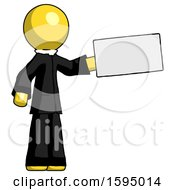 Yellow Clergy Man Holding Large Envelope