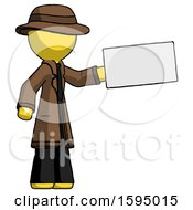 Yellow Detective Man Holding Large Envelope