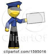 Yellow Police Man Holding Large Envelope