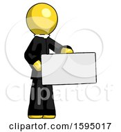 Yellow Clergy Man Presenting Large Envelope