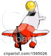Yellow Clergy Man In Geebee Stunt Plane Descending Front Angle View