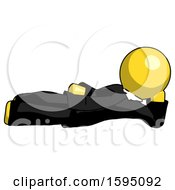 Yellow Clergy Man Reclined On Side