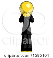 Yellow Clergy Man Laugh Giggle Or Gasp Pose