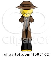 Yellow Detective Man Laugh Giggle Or Gasp Pose